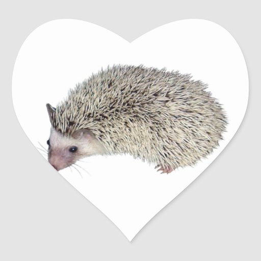 DIY Hedgehog left Heart Stickers