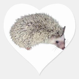 DIY Hedgehog right Heart Sticker