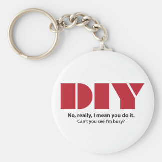 DIY I am busy Keychain