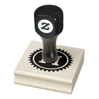 DIY Initial Badge Label Seal Rubber Stamp
