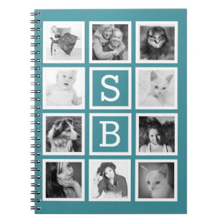 DIY Instagram 10 Photos and Initials Personalized Spiral Notebook