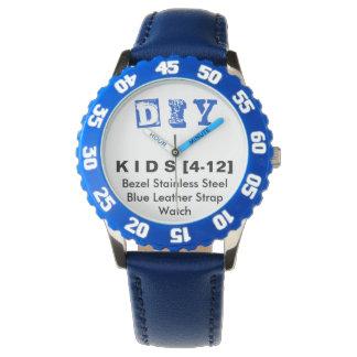 DIY - Kid's Adjustable Bezel Stainless Blue Watch