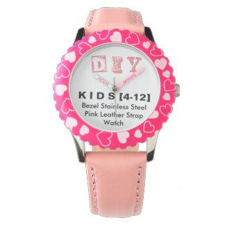 DIY - Kid's Adjustable Bezel Stainless Pink Watch