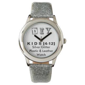 DIY - Kid's Silver Glitter Strap Watch