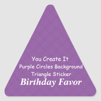 DIY Make It Yourself Purple Grunge Birthday Favor Triangle Sticker