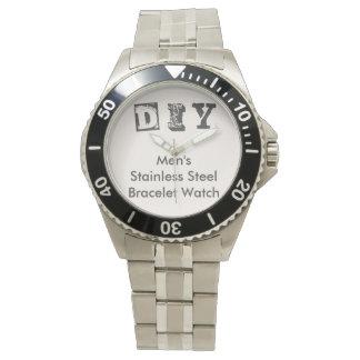 DIY - Men's Stainless Steel Bracelet Watch