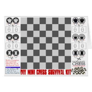 DIY Mini Chess Survival Kit Papercraft Card