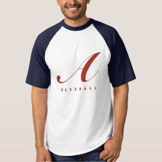 DIY Name+Number Baseball Team T-shirt