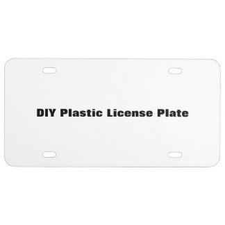 DIY Plastic License Plate