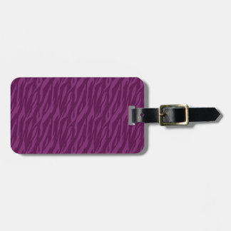 DIY Purple Zebra Background Color Design Your Own Luggage Tag