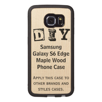 DIY - Samsung Galaxy S6 Edge Maple Wood Case