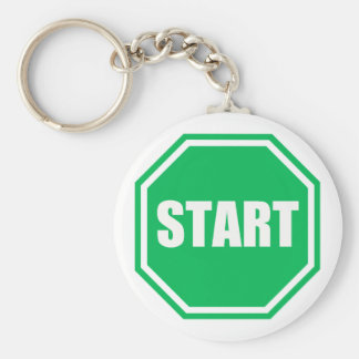 DIY St Patrick s Day Green party START sign Key Chains