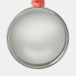 diy template Silver-Colored round ornament