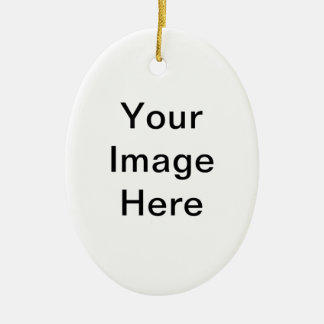 DIY Template Tee Shirts, GIFTS,Greetings, PostCard Ceramic Oval Ornament