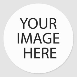 DIY Templates easy add TEXT PHOTO bulk pricing Classic Round Sticker