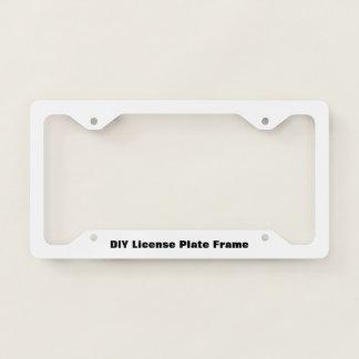 DIY Thin License Plate Frame