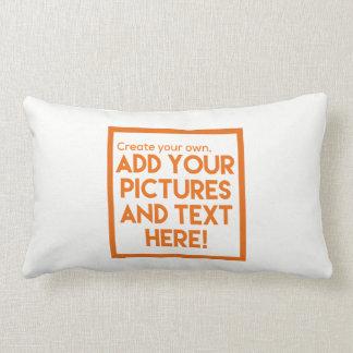 DIY - Throw Pillows!   Add text and pictures! Lumbar Pillow