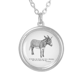DIY UnicornDonkey ver1 Silver Plated Necklace