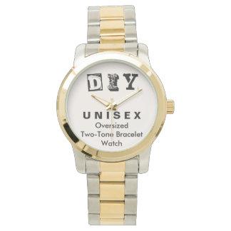 DIY - Unisex Oversized Two-Tone Bracelet Watch