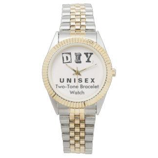 DIY - Unisex Two-Tone Bracelet Watch Men / Women