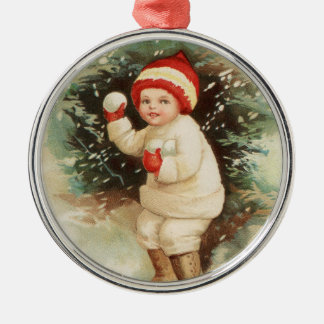 DIY Vintage Christmas Ornament - Add pics and text