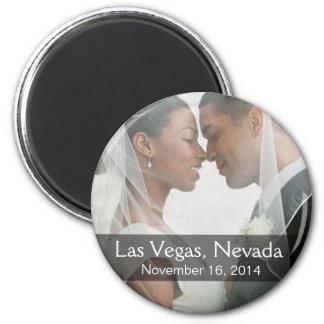 DIY Wedding Photo Round Keepsake Favor 2 Inch Round Magnet