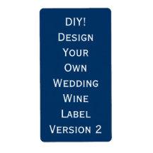 DIY Wedding Wine Label Design Your Own V2