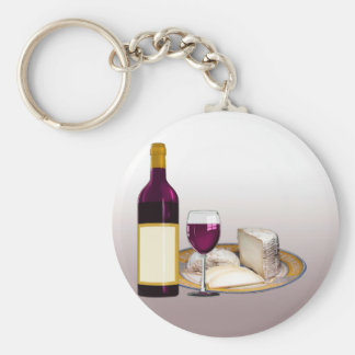 DIY WINE BOTTLE LABEL, WINE GLASS, CHEESE PERSONAL KEYCHAIN