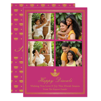 Diya Diwali Greeting Card - Custom Colour