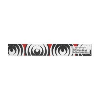 Dizzy circles wraparound return address label