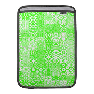 Dizzy Delights Pattern_Electric Green Sleeves For MacBook Air