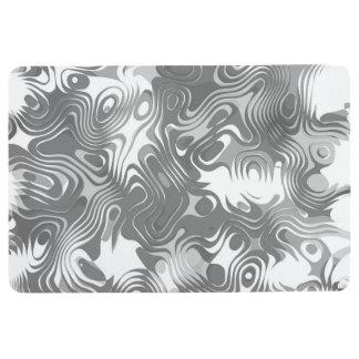 DIZZY DIGITAL IN BLACK AND WHITE FLOOR MAT