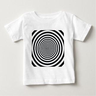 dizzy illusion black and white circle art vo1 baby T-Shirt