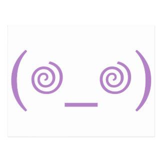 Dizzy in Purple Postcard