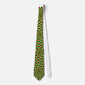 Dizzy Maker Green and Red Tie