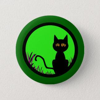 Dizzy Moon Cat 2 Inch Round Button