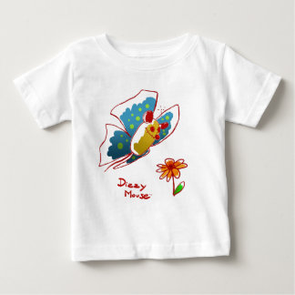 """Dizzy Mouse - """"Butterfly Mouse """" Baby T-Shirt"""