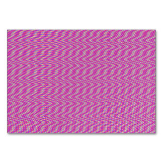 Dizzy Pink Table Card