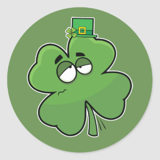Dizzy Shamrock Stickers