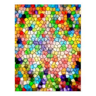 Dizzy stained glass postcard