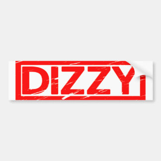 Dizzy Stamp Bumper Sticker