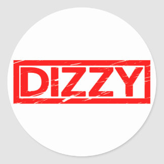 Dizzy Stamp Classic Round Sticker