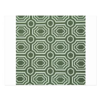 Dizzy Vintage Green Cool Antique Design Styles Postcard