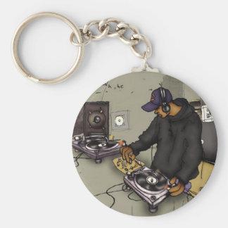 DJ & 2 Turntables - Key Chain