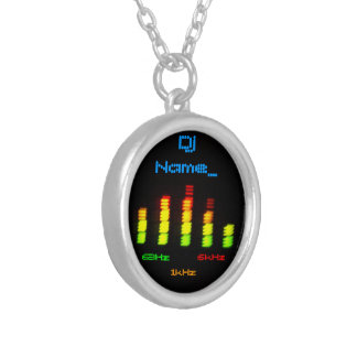 Dj Add your name Custom Equalizer Bar EQ Silver Plated Necklace