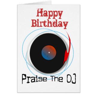 DJ Birthday Card