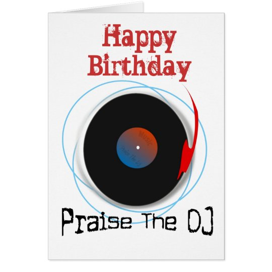 DJ Birthday Card