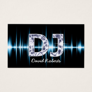 DJ Blue Sound Waves Professional Deejay Music Business Card