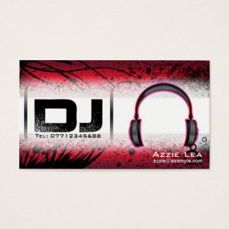 Dj business cards zazzle image collections card design and card custom red dj business cards zazzle dj business card customizable reheart image collections reheart Choice Image