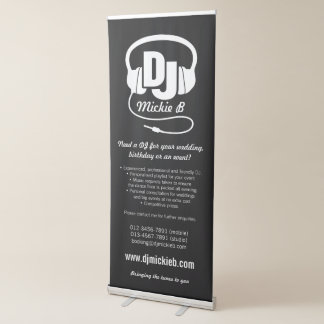 DJ business promotional banner stand